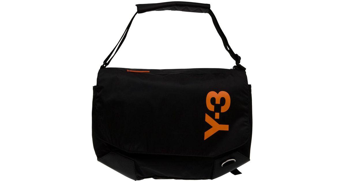 ysl sling bag - Y-3 Logo Messenger Bag in Black for Men   Lyst
