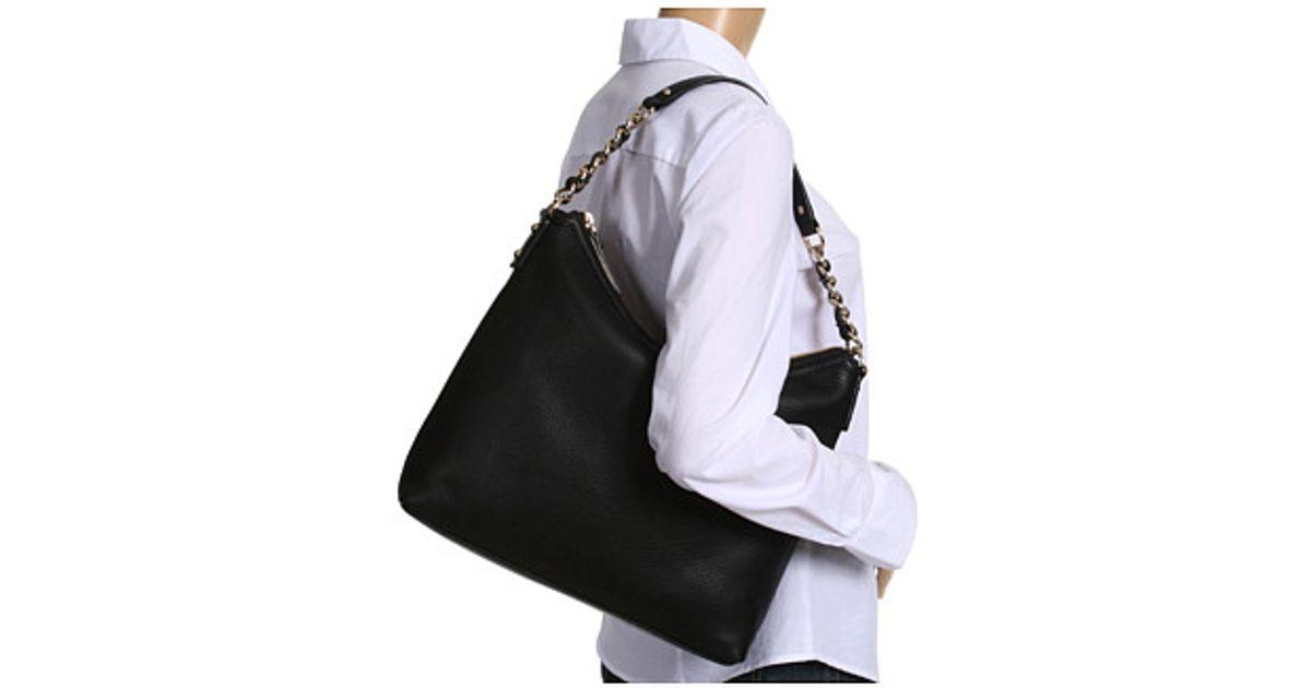 ac3f955bd6726 Lyst - Kate Spade Cobble Hill Medium Serena Hobo-style Shoulder Bag in Black