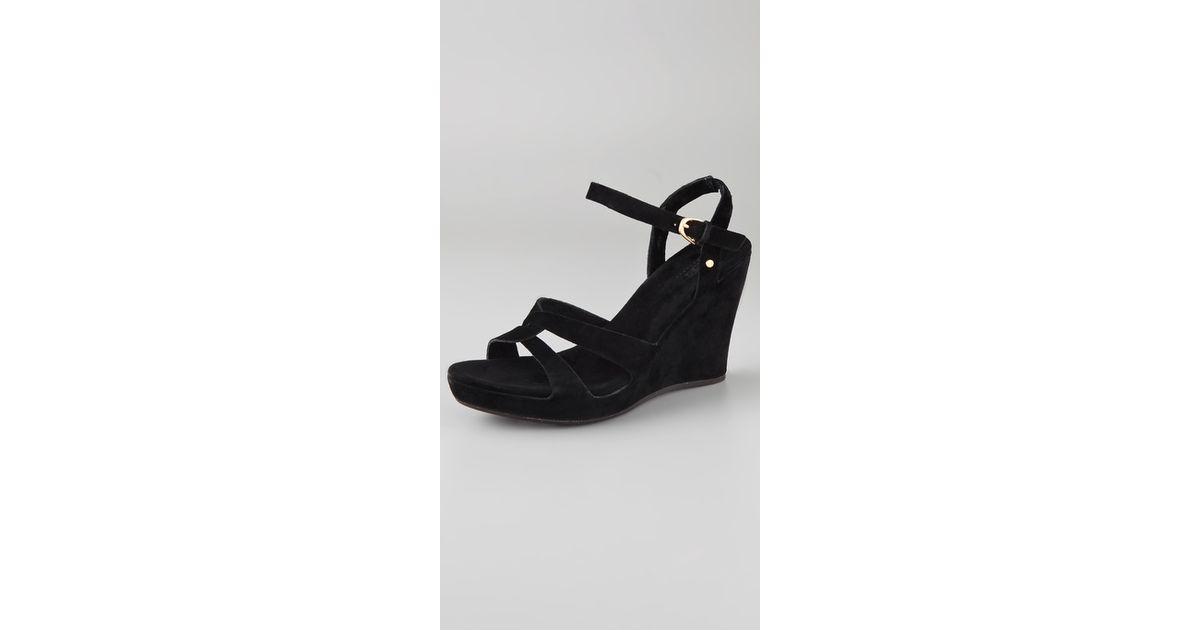 09f5ea352f1 UGG Black Arianna Wedge Sandals