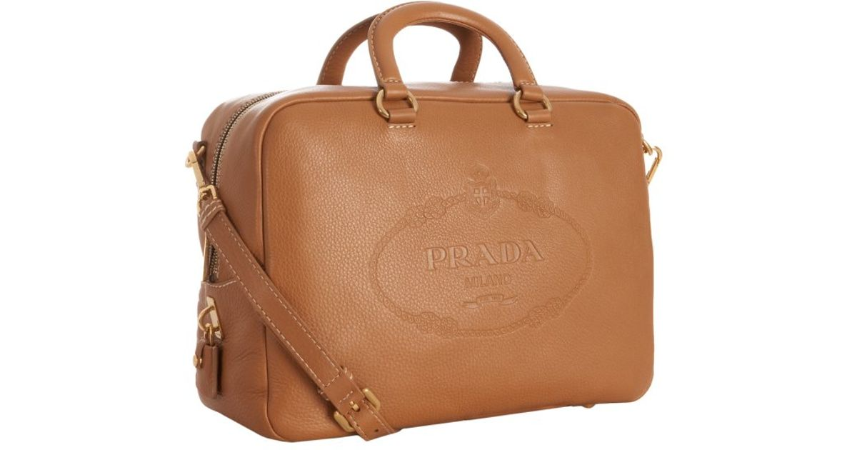 prada leather handle bag