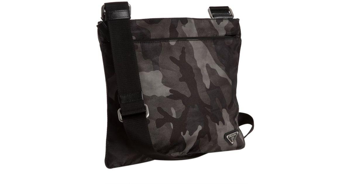 69332b562456cf ... switzerland lyst prada smoke camouflage nylon messenger bag in gray for  men 24cc1 ea21a