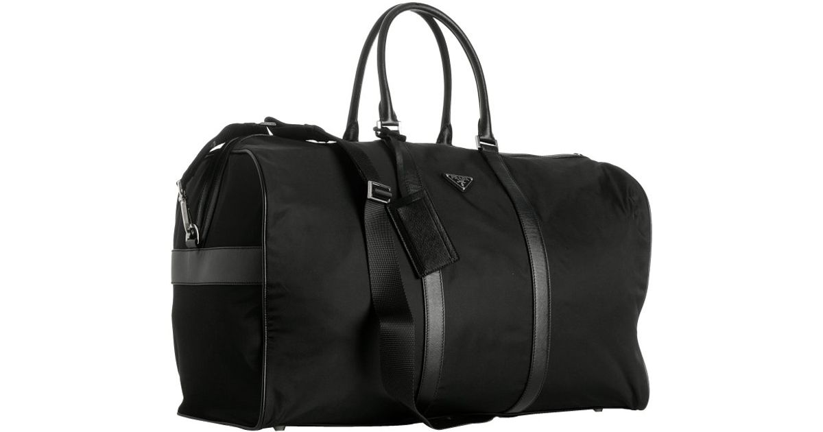 4de1be4e01a0 sweden lyst prada black nylon viaggio large duffle bag in black for men  d7a1d ac5f6