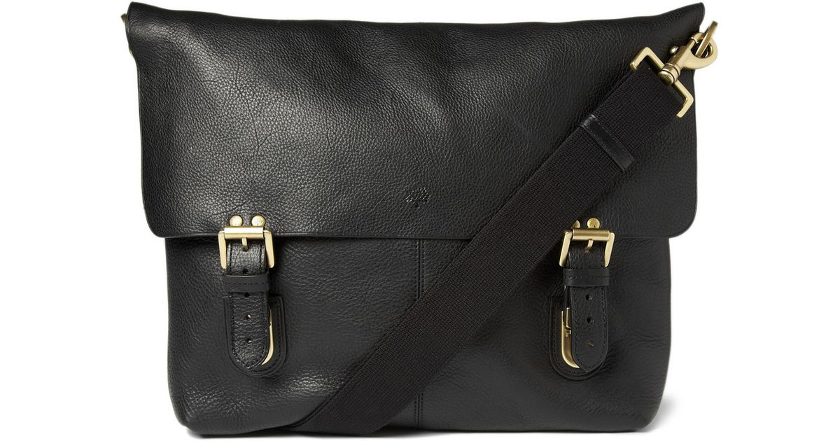 uk availability exquisite style cute Mulberry Barnaby Leather Messenger Bag in Black for Men - Lyst