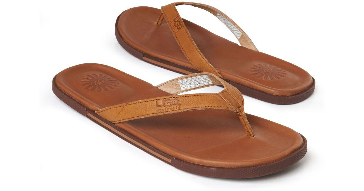 063faaabbe0 UGG Bennison Flip–flops Brown for men
