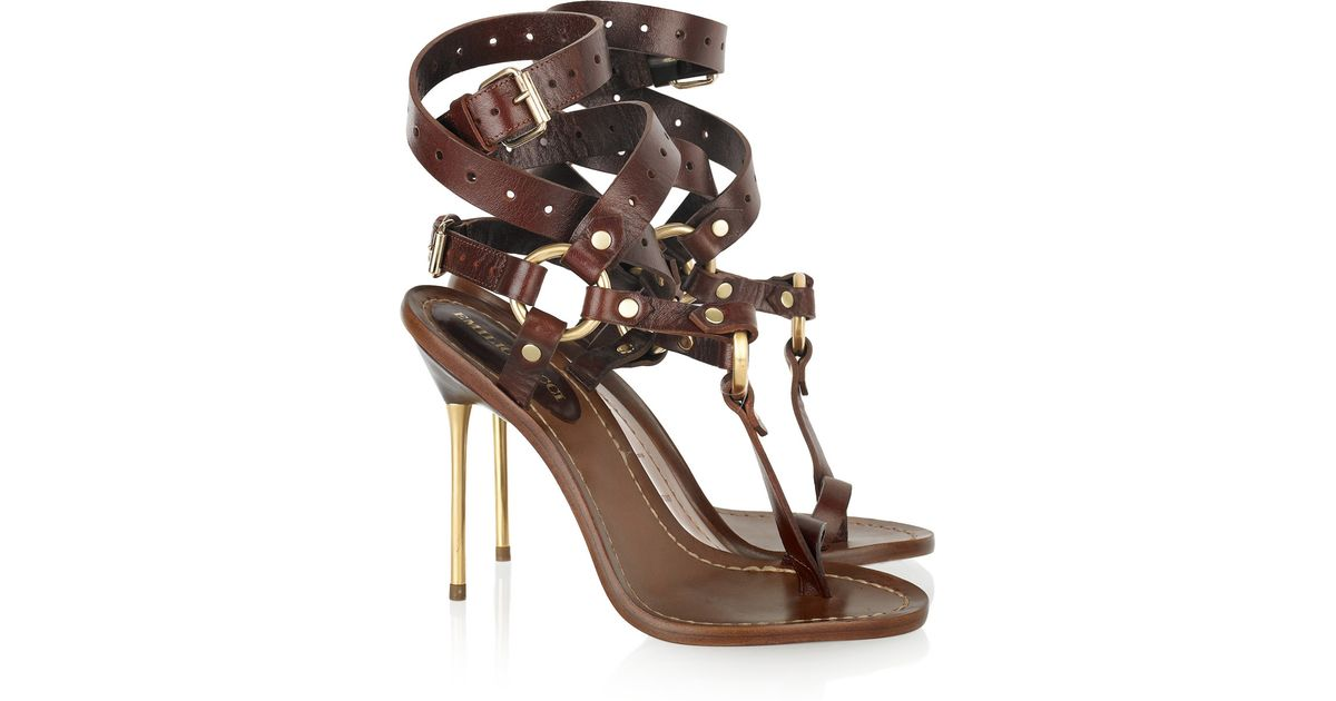 Emilio Leather Bar Pucci Sandals Brown T eQxoWBrdC