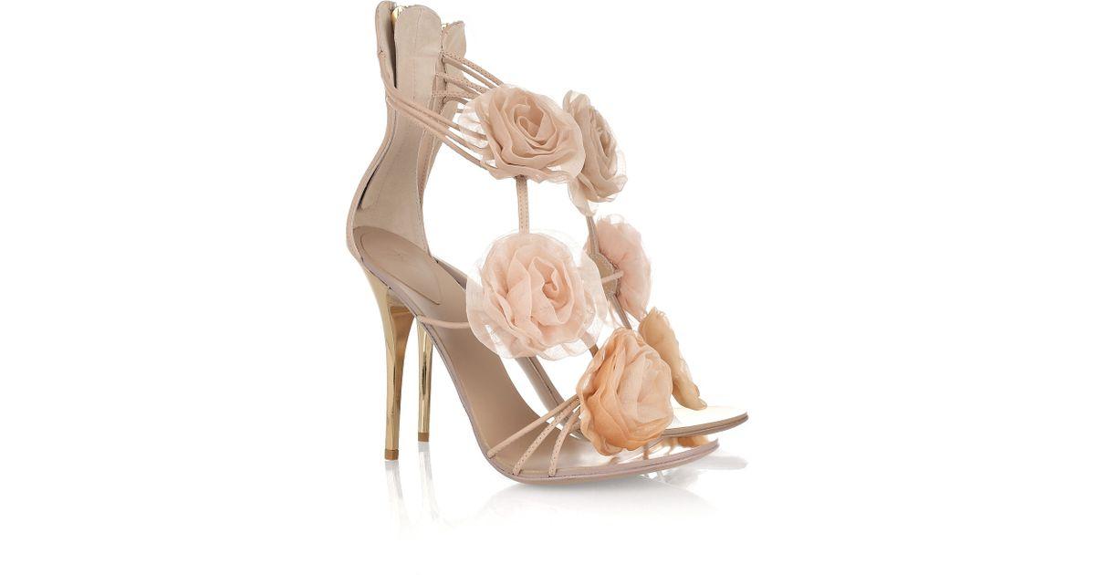 Giuseppe Zanotti Nude Patent Leather Sasha Platform Heels