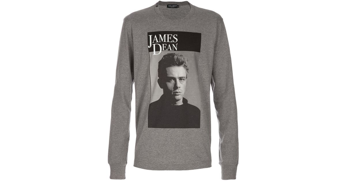 5ce9fb2f1145ad Dolce & Gabbana James Dean T-shirt in Gray for Men - Lyst