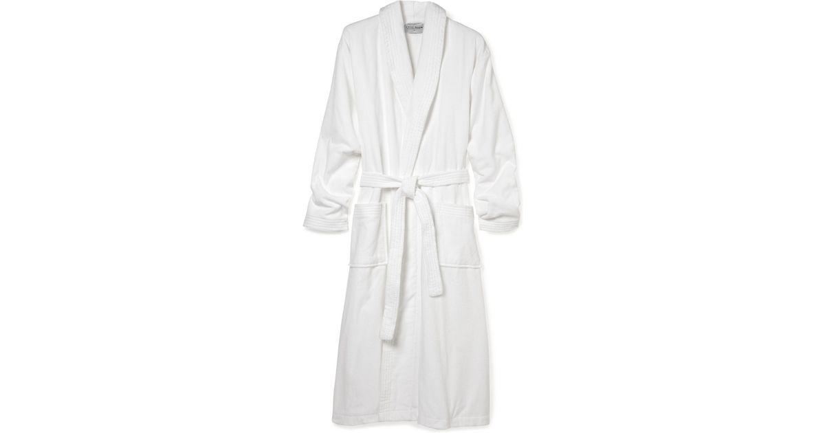 Lyst - Derek Rose Towelling Bathrobe in White for Men 2e0bdb787