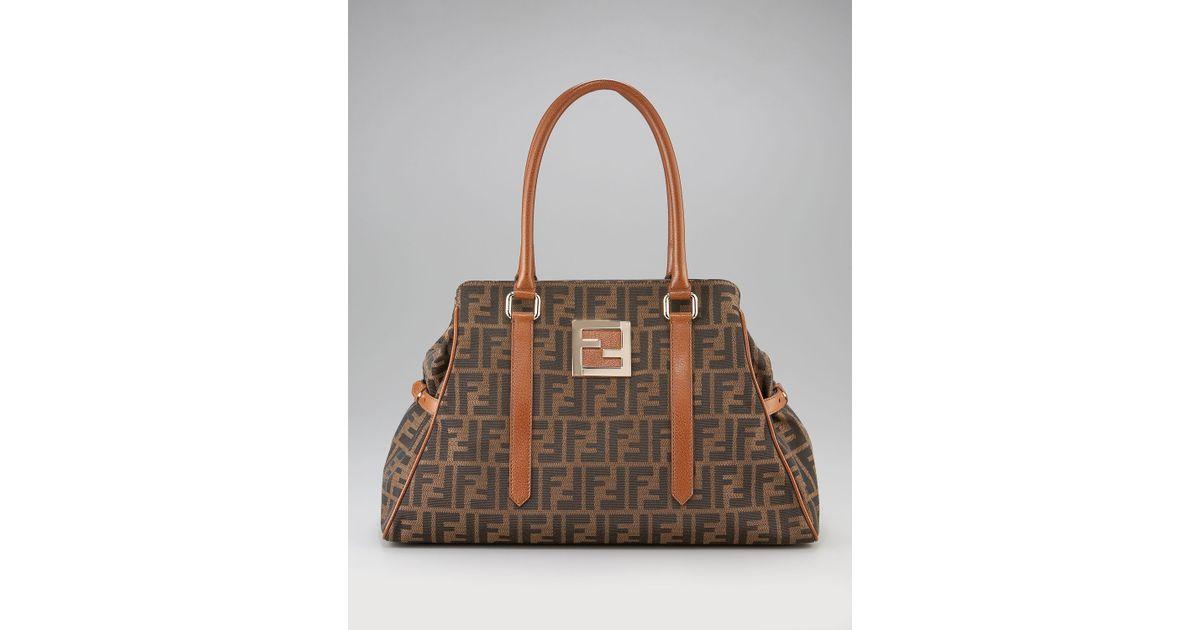 5e386ccd1f4b Lyst - Fendi Zucca Bag Du Jour in Brown