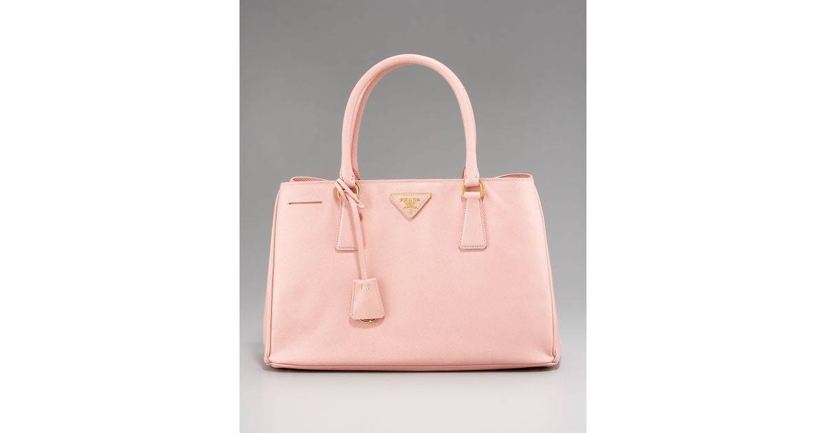 9859dddc2241 ... coupon code for lyst prada medium saffiano lux tote in pink 85be1 f93b3