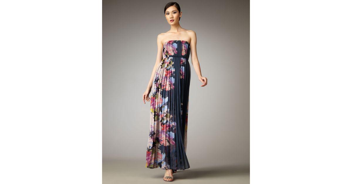 671dbaca9df Tibi Aurora Plisse Maxi Dress in Blue - Lyst