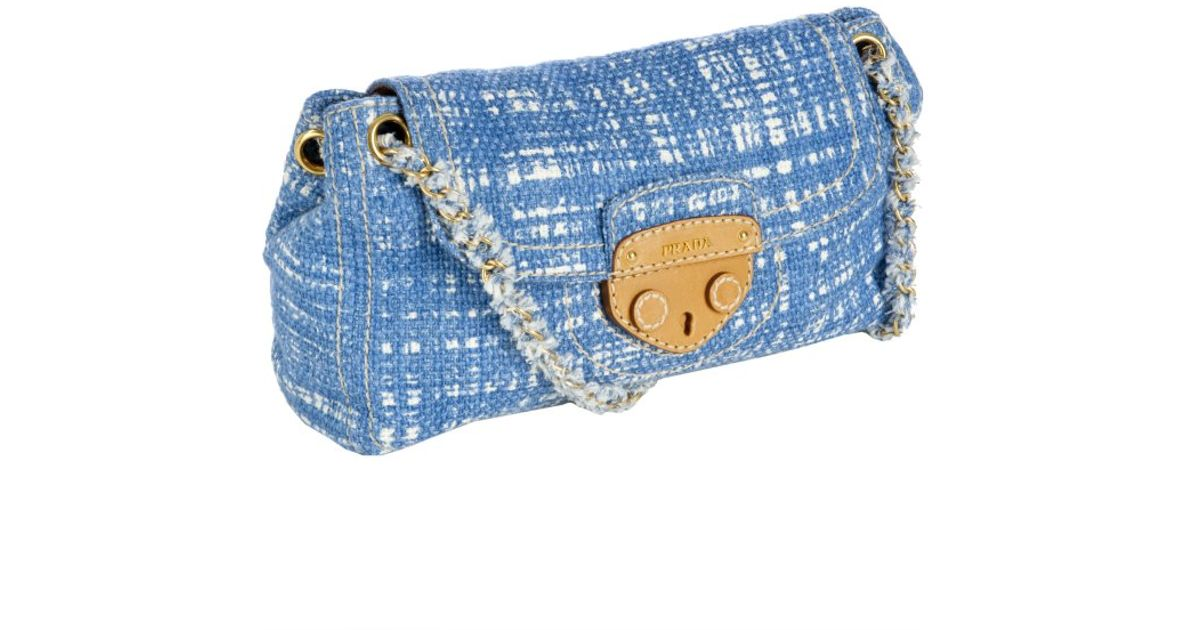 prada shoulder bag with chain handle