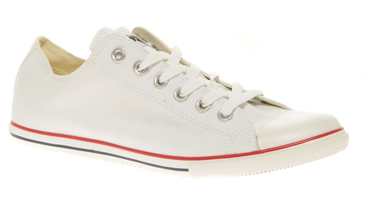 Converse White All Star Slim Plimsolls for men