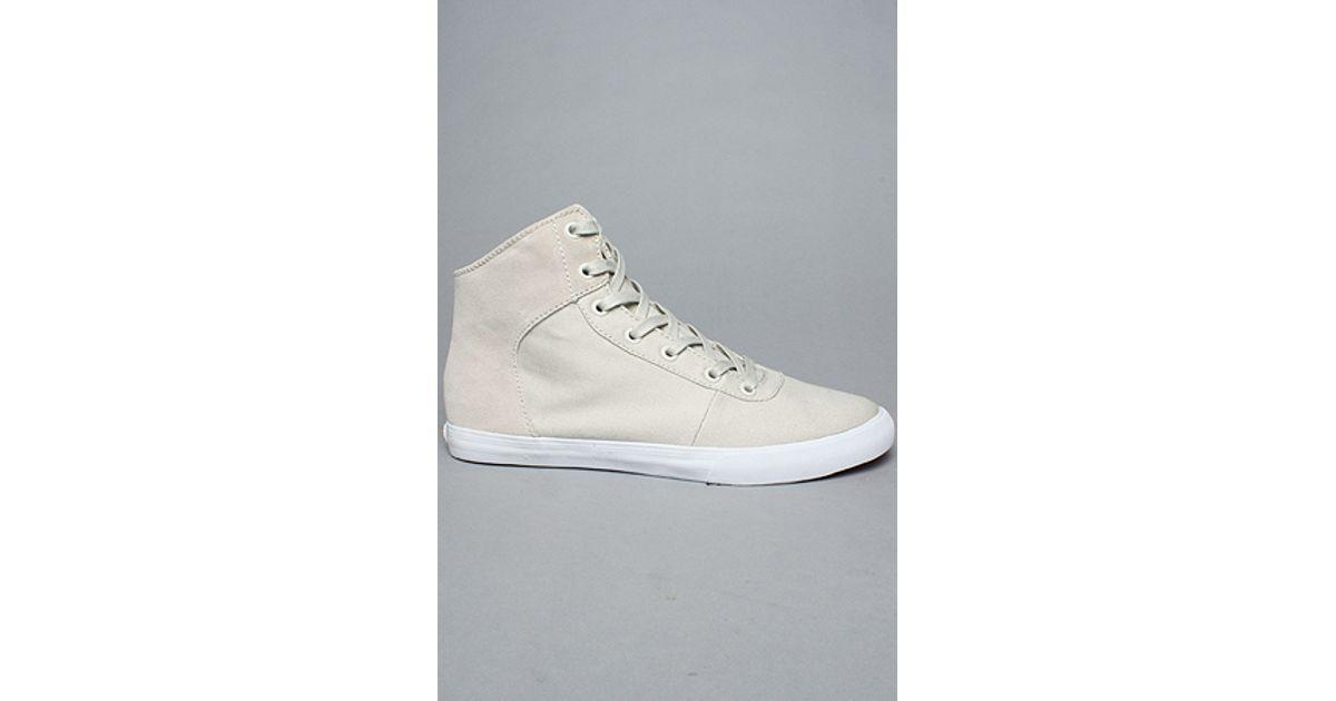dd5cc8891b Lyst - Supra The Cuttler Sneaker in Cream Canvas Suede in White for Men