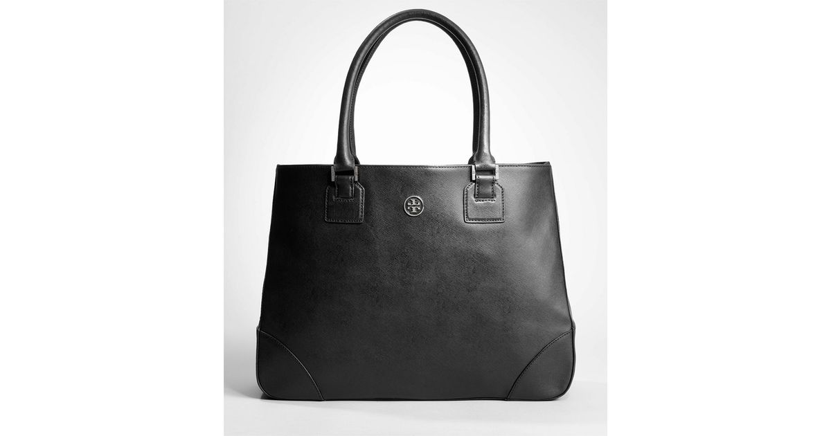 655bc1a2498c Lyst - Tory Burch Robinson East west Tote in Black