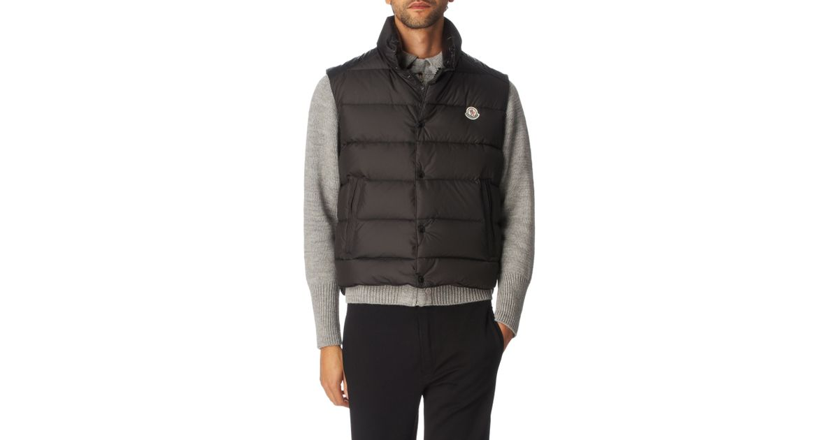 f8f370c408ab Moncler Cheval Padded Gilet in Gray for Men - Lyst