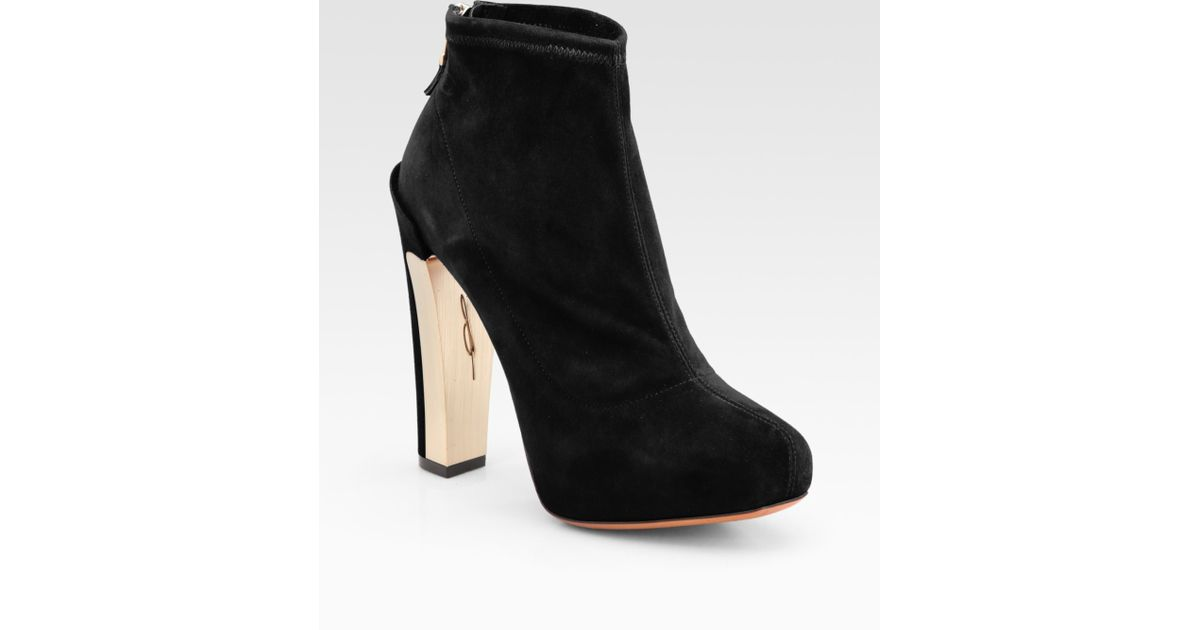 Brian Atwood Edeline Suede Ankle Boots excellent sale online sast DMFU83p