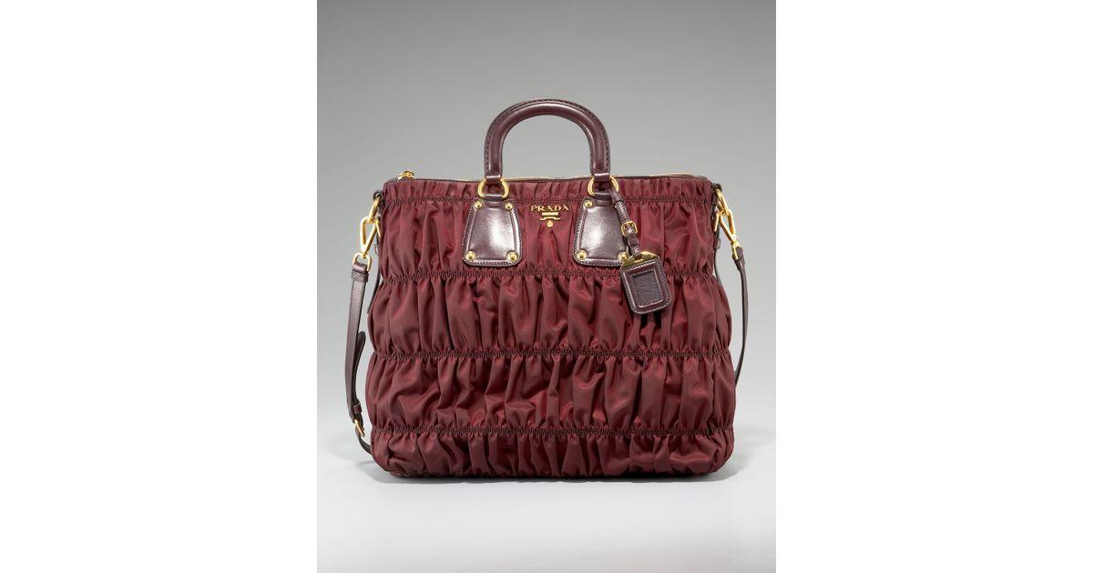 e0fde0c71e04 ... shop lyst prada tessuto gaufre nylon tote in red fcea6 58aeb