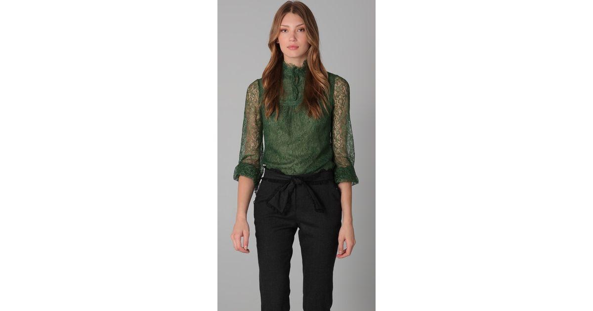 Emerald Lace Blouse