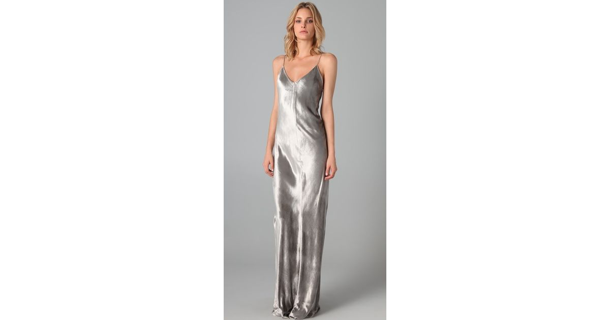 4b31012e86d8 T By Alexander Wang Panne Velvet Cami Long Dress in Metallic - Lyst
