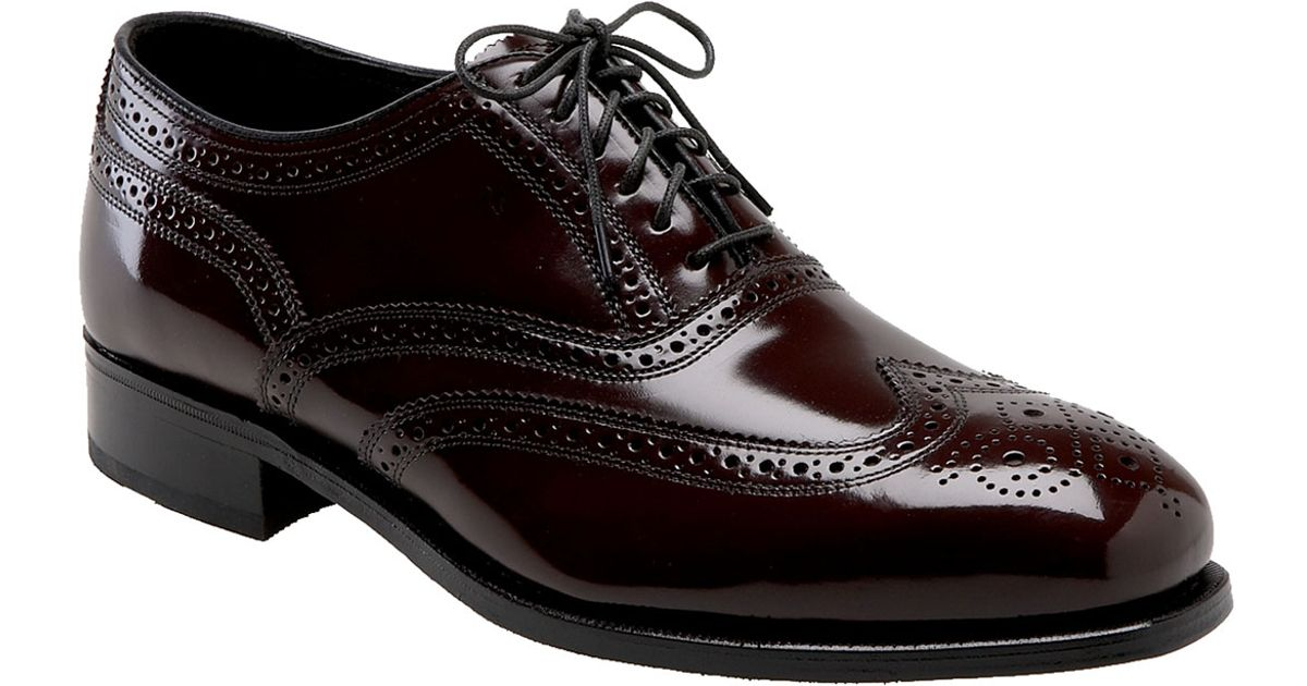 Florsheim Lexington Wing Tip Oxford Shoes In Purple For