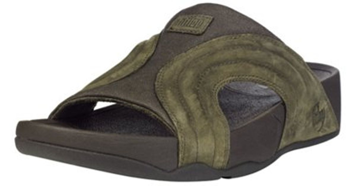 fbe36e6d1dc6d1 Fitflop Mens Freeway Sandal in Green for Men - Lyst