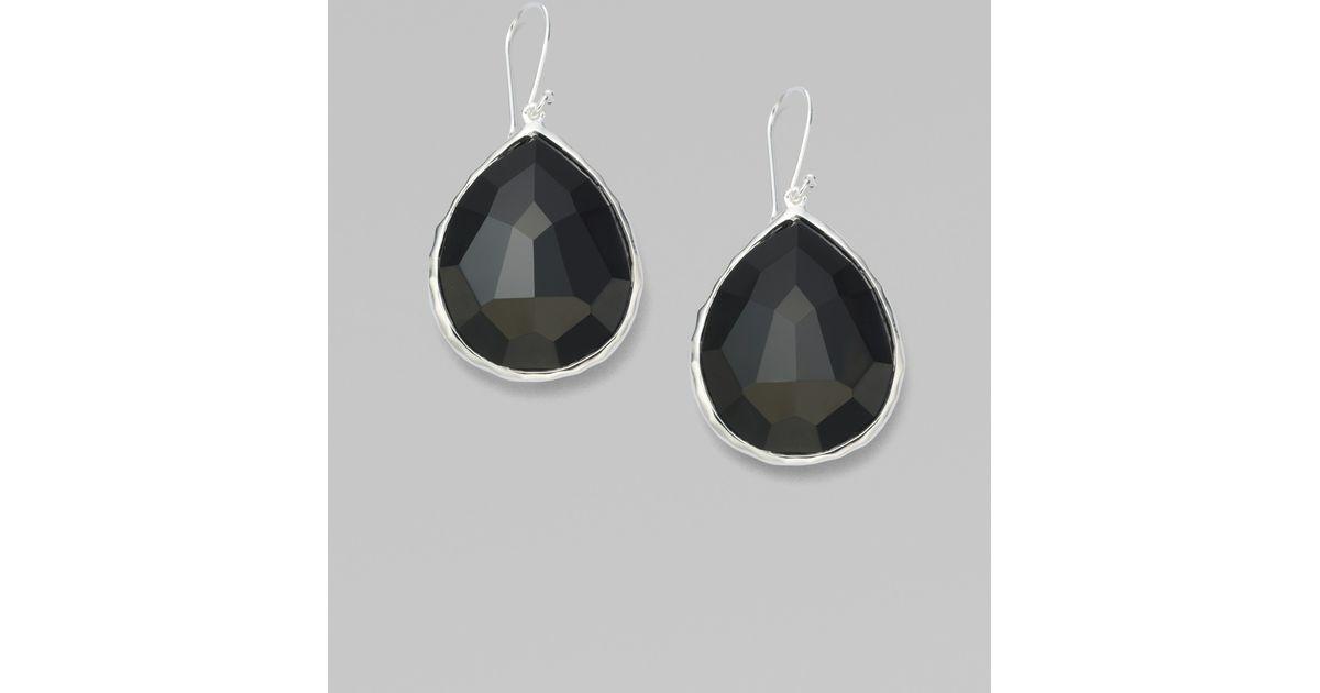 Ippolita 18K Rock Candy Teardrop Cascade Earrings in Black Onyx GKVpNyaA