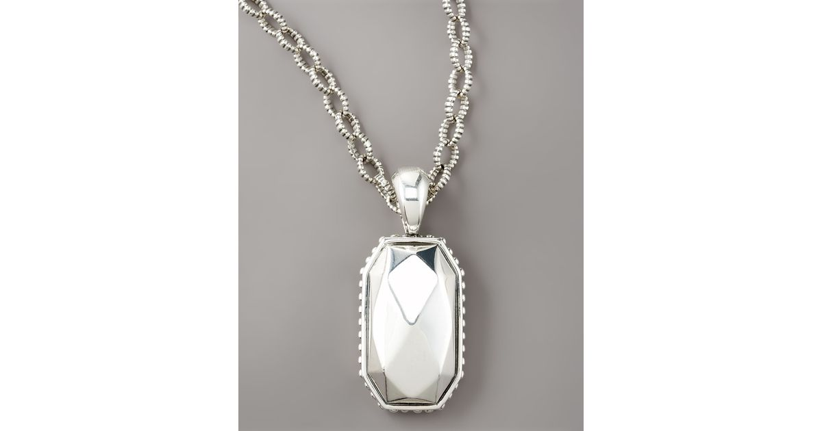 Lyst lagos rock pendant necklace in metallic aloadofball Gallery