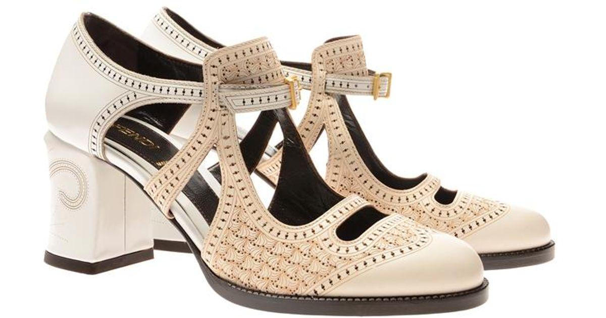 Fendi Chameleon Leather Mary Jane Shoes