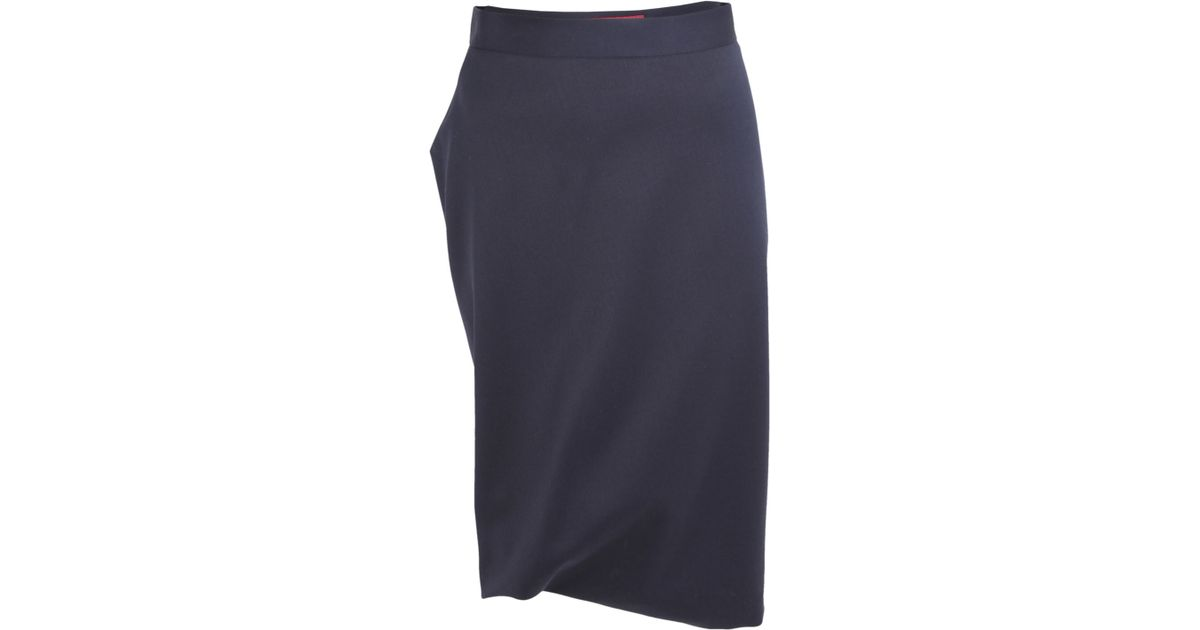 6c838ec90e Vivienne Westwood Red Label Navy Accident Pencil Skirt in Blue - Lyst