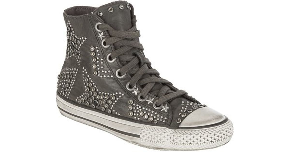cb638f5d6700 Ash Vibration Star Studded High Top Lace Up Trainers Stone in Green - Lyst