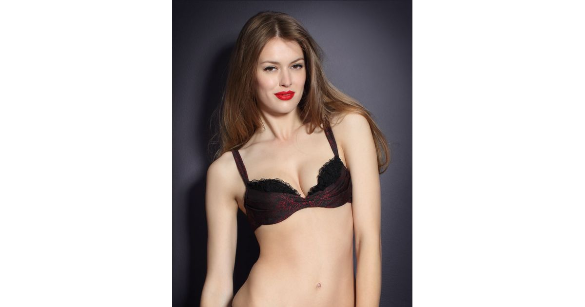 e7587965bf Agent Provocateur Eugenie Bra in Red - Lyst