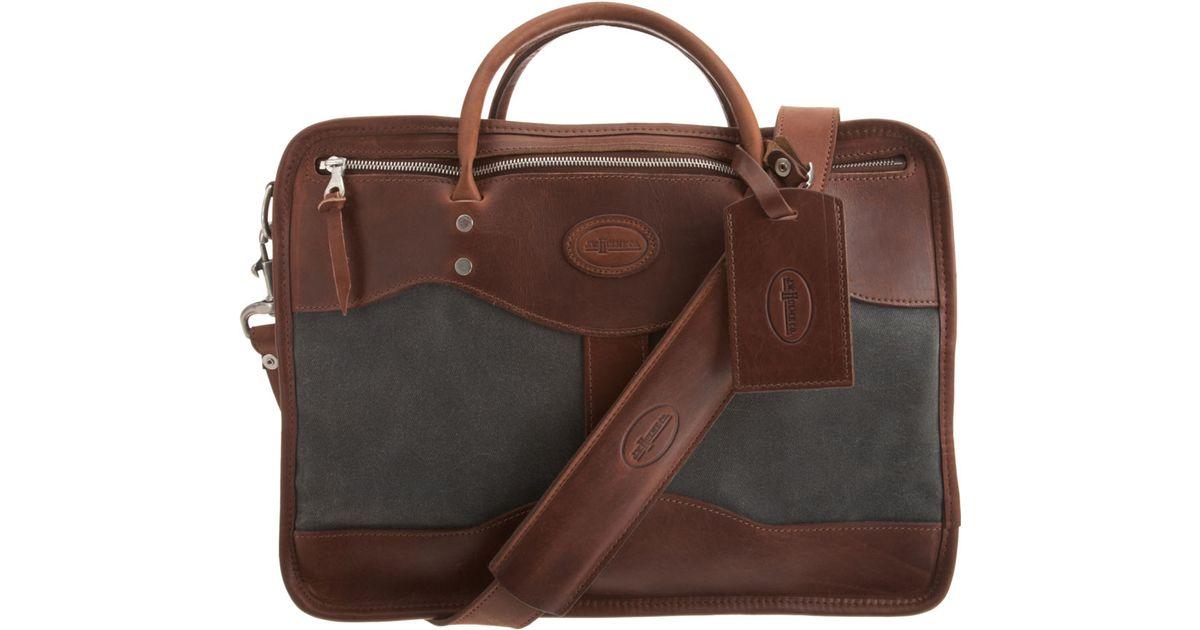 Jw Hulme Reinforced Briefcase In Grey Brown For Men Lyst