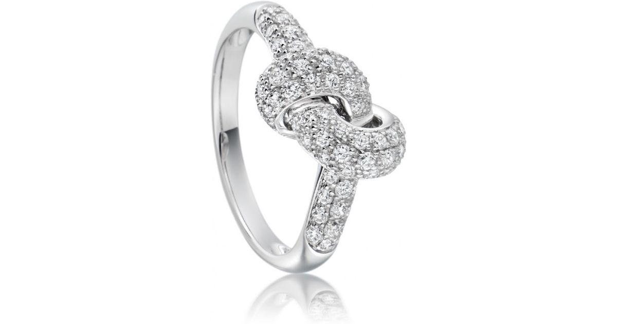 Lyst Astley Clarke Love Knot Diamond Ring In White