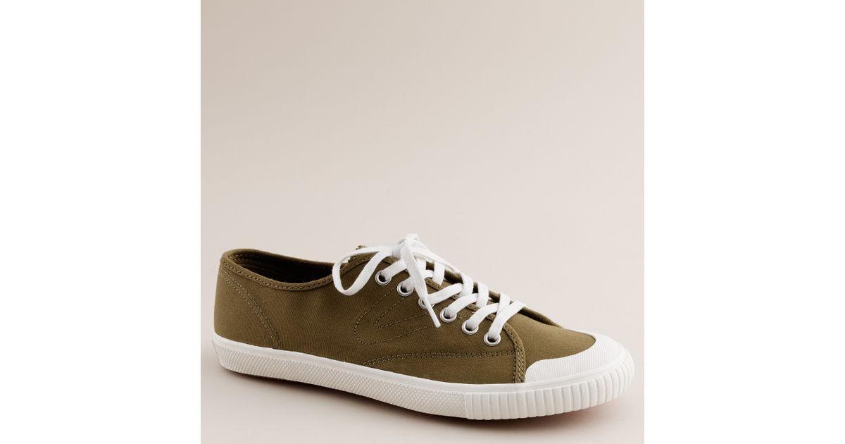 buy popular 75f5d 83f77 Lyst - J.Crew Tretorn® Canvas T56 Sneakers in Green