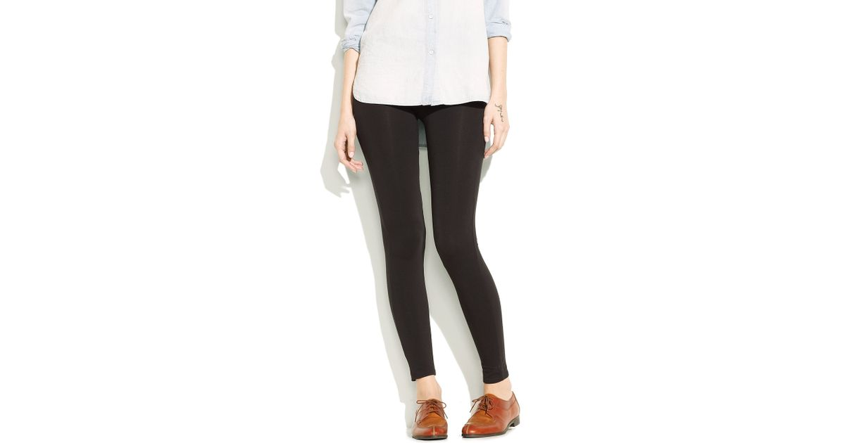 f4090d033921b Lyst - Madewell Everyday Knit Leggings in Black