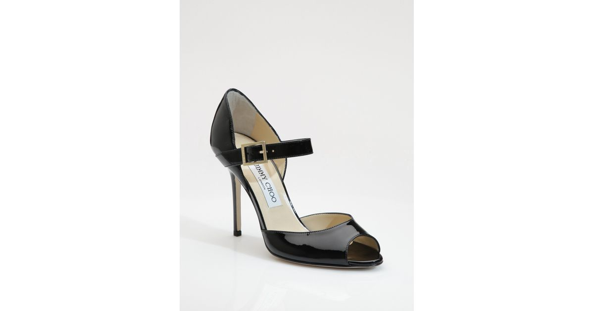 new arrival reputable site latest discount Jimmy Choo Patent Leather Mary Jane Pumps in Black - Lyst