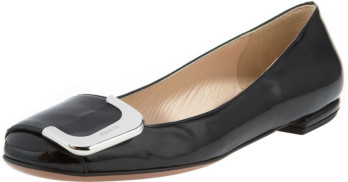 Prada Square-Toe Loafer Flats cheap ebay under $60 for sale HnWsN