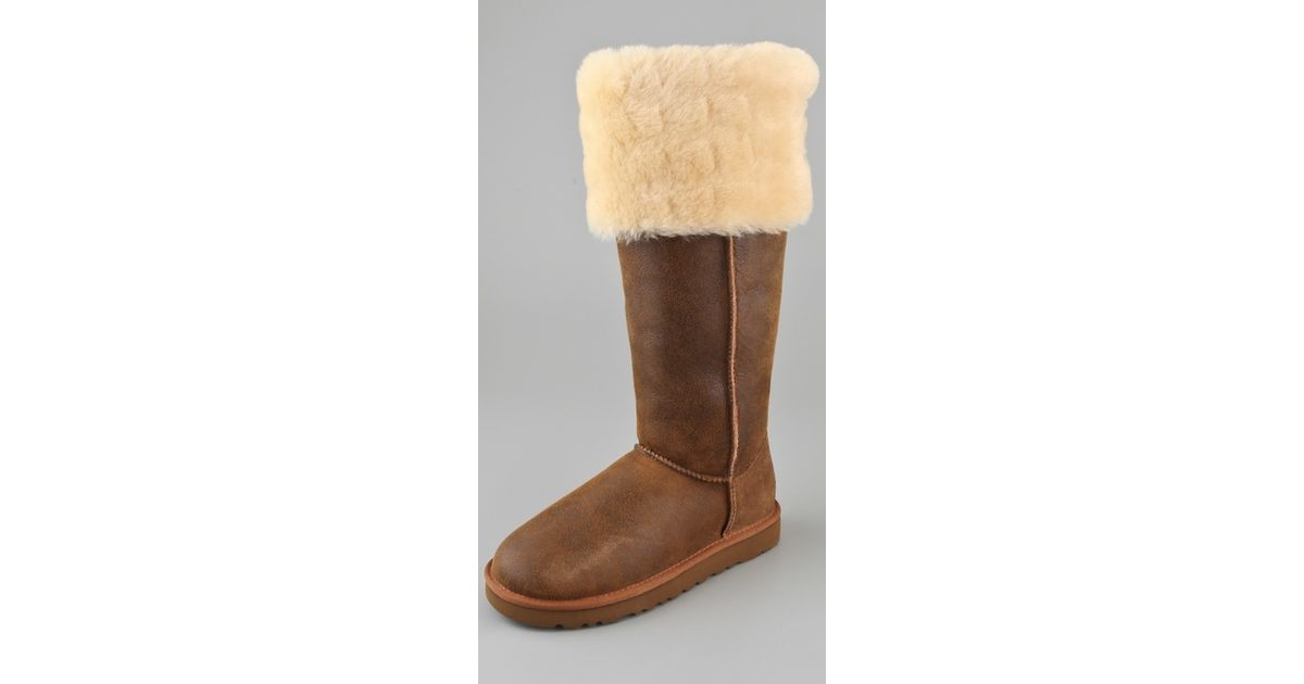 a1c677f8a9b Button Knee Over Brown Bailey The Lyst Ugg Boots In qvH7B