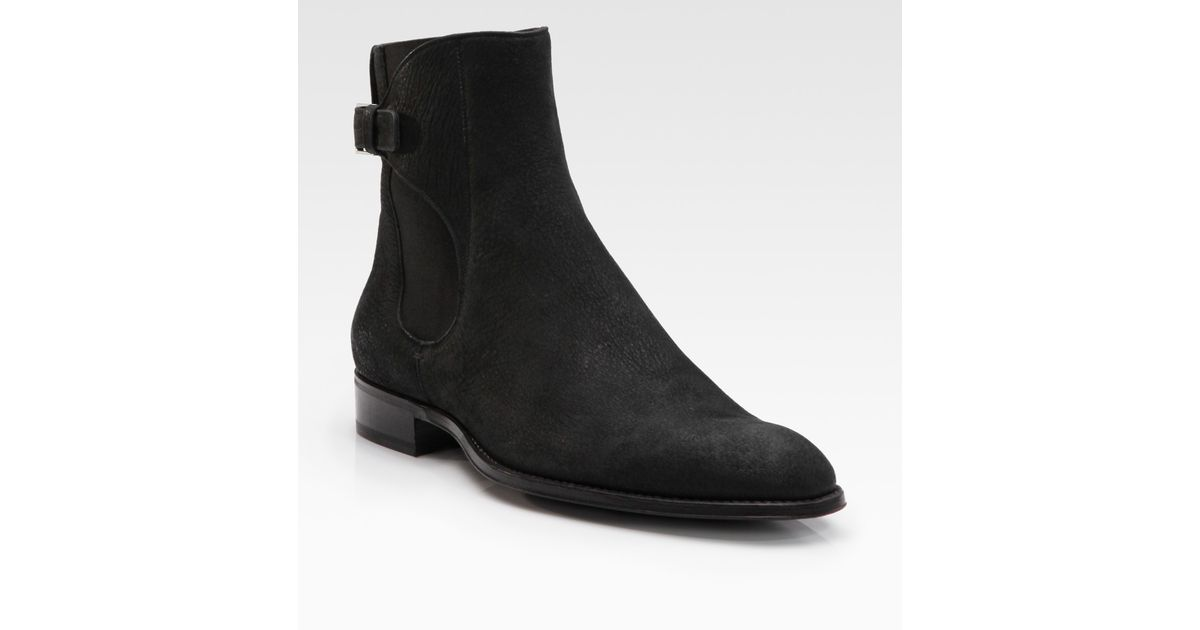 Dior Homme Buffalo Leather Ankle Boots