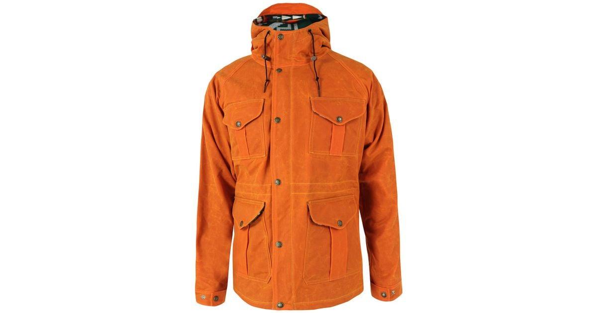 Filson Orange Fisherman Parka Jacket in Orange for Men | Lyst