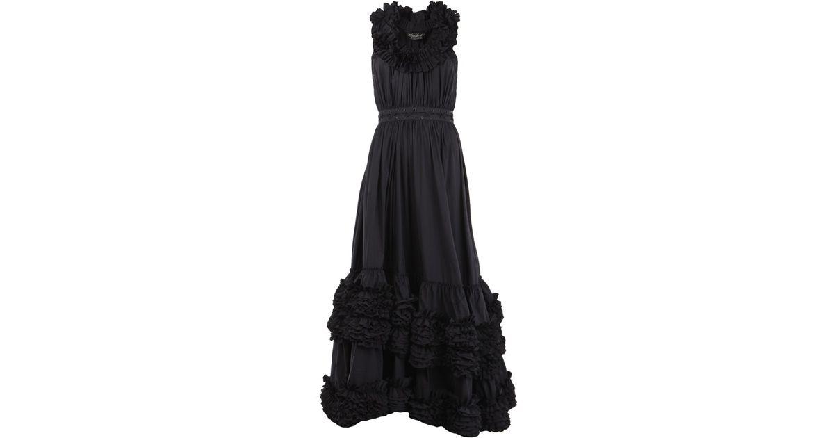 2bf3400487d AllSaints Allegra Maxi Dress in Black - Lyst