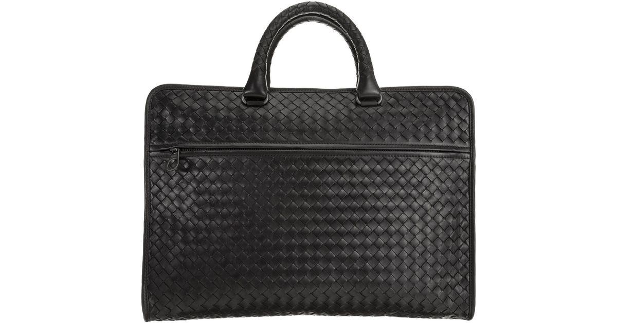 8873042590fb Bottega Veneta Intrecciato Computer Bag in Black for Men - Lyst