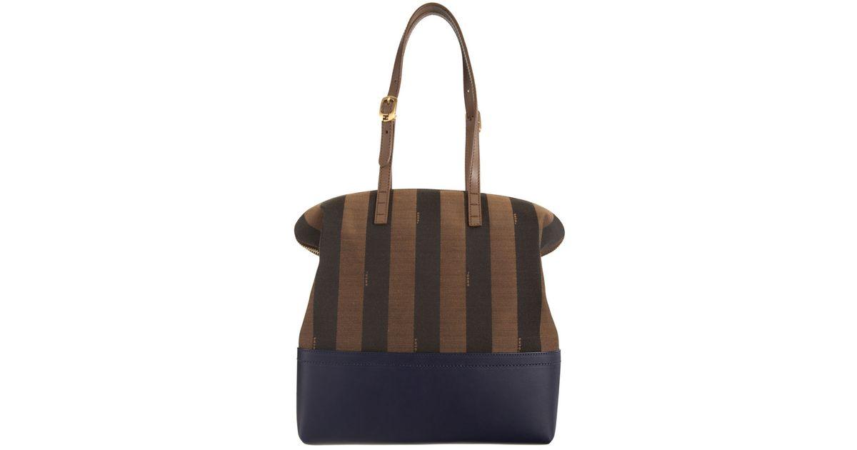 7f664d791100 Fendi Pequin Stripe 2bag in Brown - Lyst