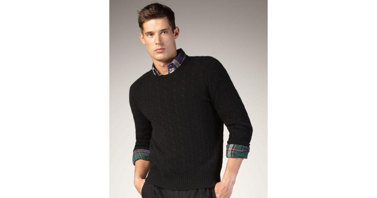 tommy hilfiger flag polo ralph lauren black cable knit jumper