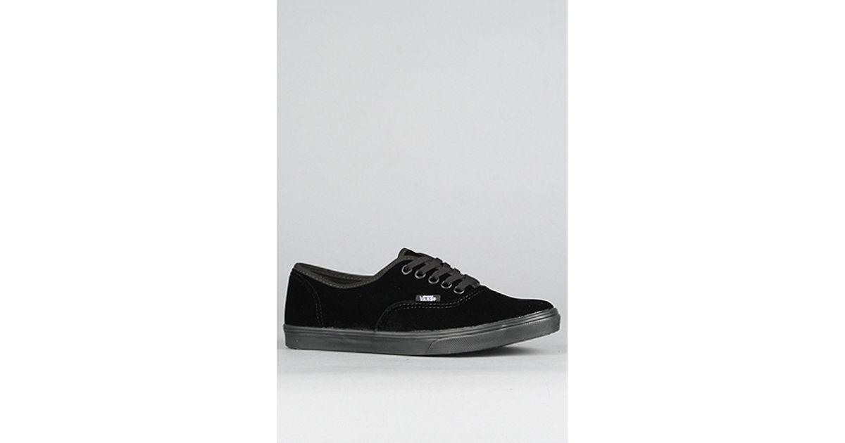 f87ce576c19fd0 Lyst - Vans The Authentic Lo Pro Sneaker in Black Velvet in Black