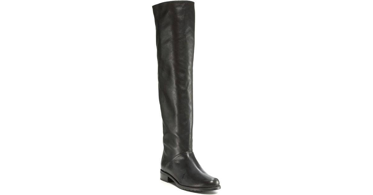 7f07a3c5e8a Stuart Weitzman Black Backtalk Tall Flat Boots