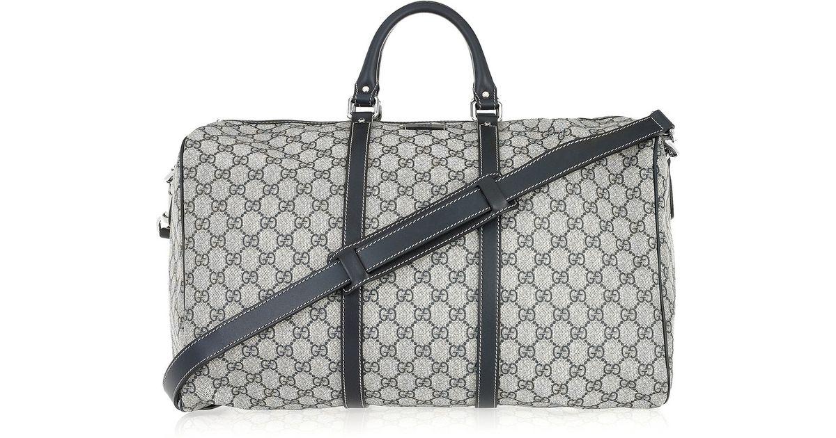 92ba6bd05bb Gucci Black Speedy Leather-trimmed Canvas Weekend Bag