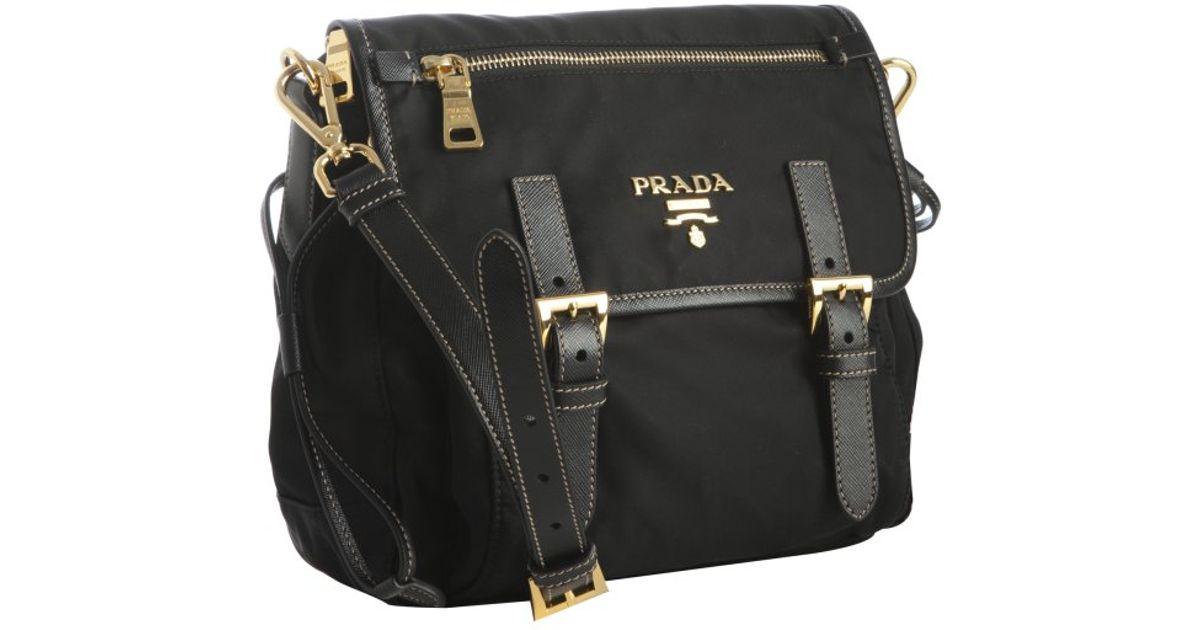 6e18d7b41e25 ... spain lyst prada black nylon mini messenger bag in black d4351 d890e