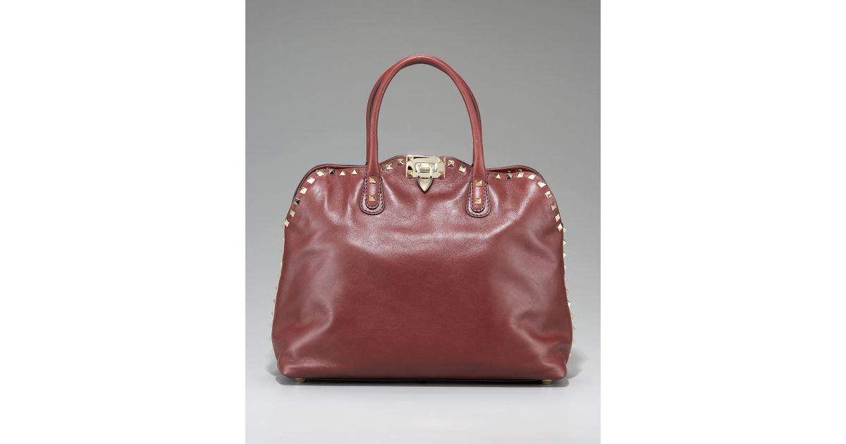 f57006e4c5a6 Lyst - Valentino Rockstud Dome Bag
